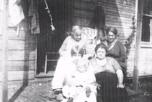 Pluard Family - Elizabeth Barker - Back Far Right, Mary Louise LaFleur - Back Far Left