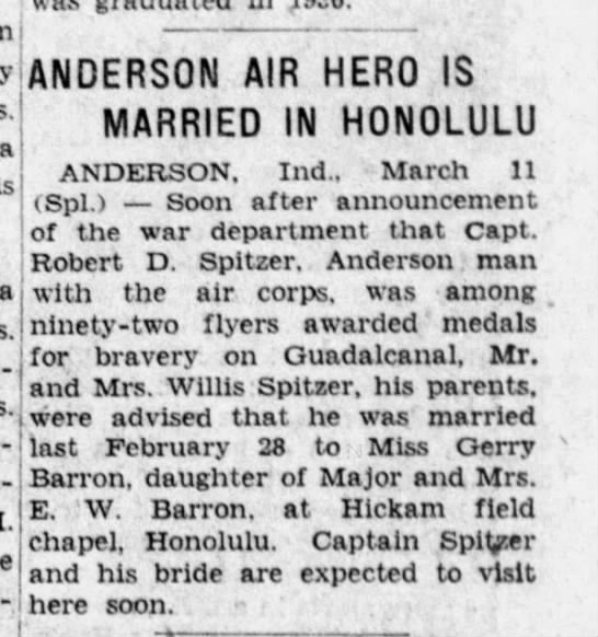 1943-03-11 The Indianapolis News (Indiana) Page 23 Wedding Announced