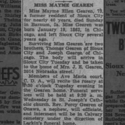Mary E. Gearen Obituary
