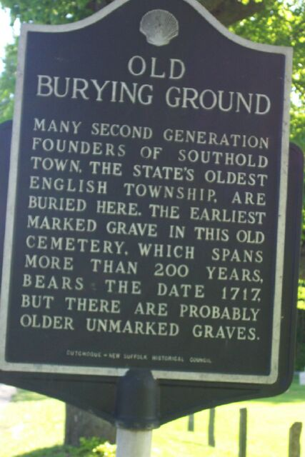 Old Cutchogue Burying Ground