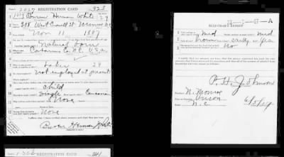 Page 1 - WWI Draft Registration Cards