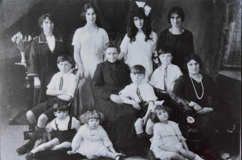 Rosalia Black with her daughters and grandchildren