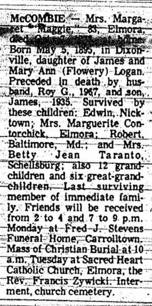 not 1977-Oct Margaret McCombie Obit