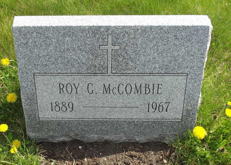 Roy G McCombie Tombstone