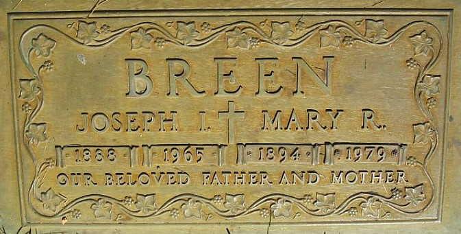 Breen Grave Stone