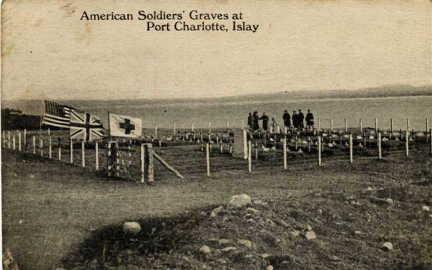 Pic William Wiley Wright - Tuscania Gravesite Port Charlotte-Islay 1918