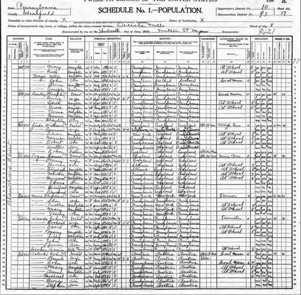 not 1900 Census Margaret Logan with Parents