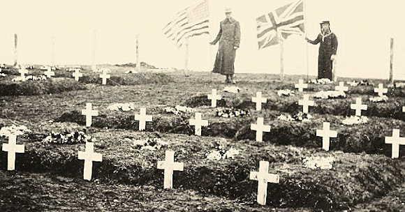 Pic William Wiley Wright - Tuscania Gravesite 1918