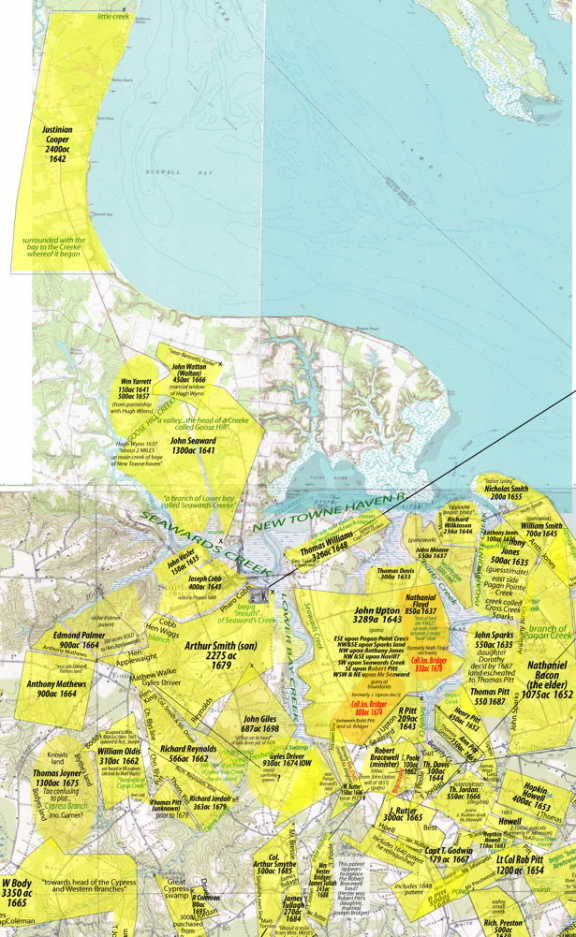 IOW MAP - EARLY LAND GRANTS - AWSOME
