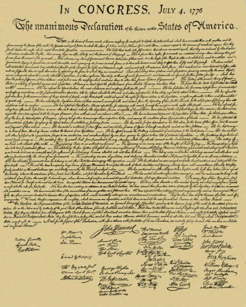 prescale The Declaration of Independence